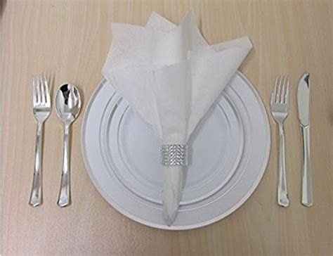 360 Piece Disposable Plastic Wedding Tableware Dinnerware