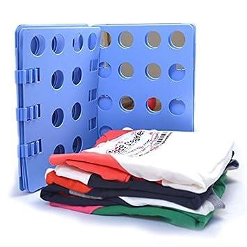 Ohuhu® Piegavestiti - Piegabiti Piega Camicie Vestiti Pantaloni Adulti / Fast Folder Piega Magliette / Organizzatore Pannello Piega Indumenti Biancherie, Blu
