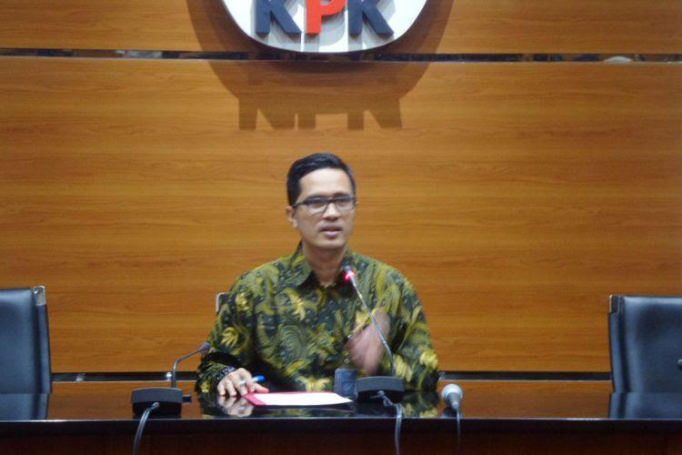 Juru Bicara KPK Febri Diansyah di Gedung KPK Jakarta, Rabu (26/7/2017).