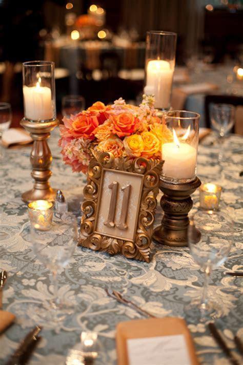 Gold Bronze Orange Centerpiece   Elizabeth Anne Designs