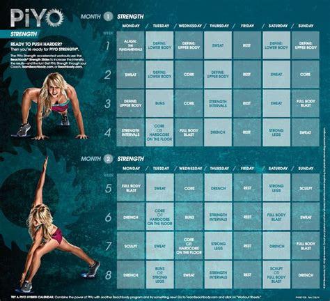 image result  piyo calendar fitness pinterest