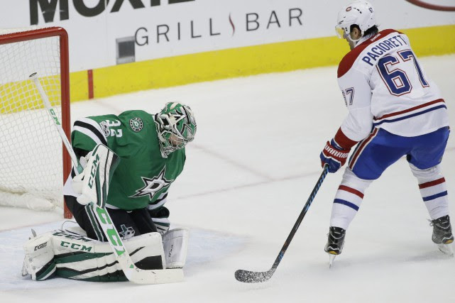 Max Pacioretty marquant le but vainqueur.... (Photo LM Otero, AP)