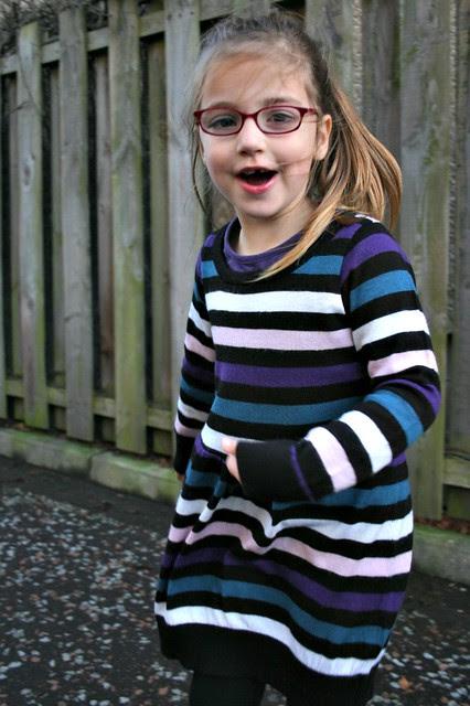 sweater refashion dress 3