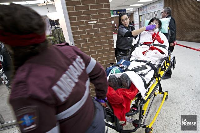 Pendant l'altercation, la commis, une femme âgée dans... (Photo Patrick Sanfaçon, La Presse)
