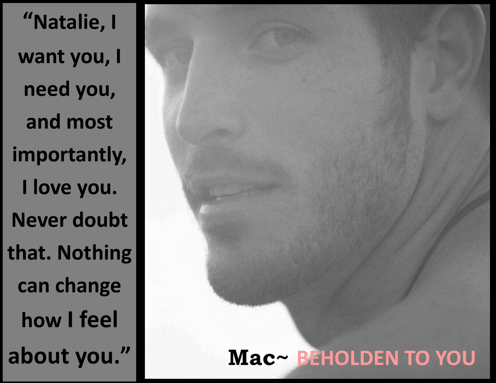 Mac proclaims love