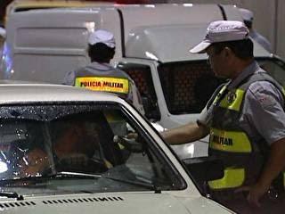 blitz nova lei seca São Paulo multas (Foto: Reprodução)