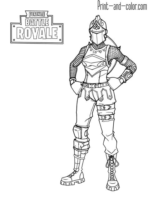 fortnite coloring pages red knight red knight fortnite