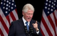 Former President Bill Clinton speaks during a campaign event for President Barack Obama at the Waldorf Astoria, Monday, June 4, 2012, in New York. (AP Photo/Carolyn Kaster)