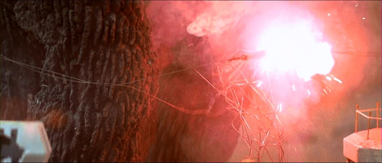 Godzilla gets a jolt to the nads