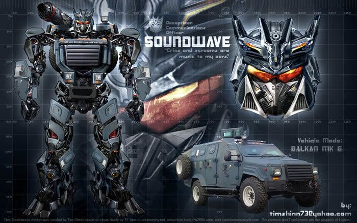 Another fan-made artwork of Soundwave.