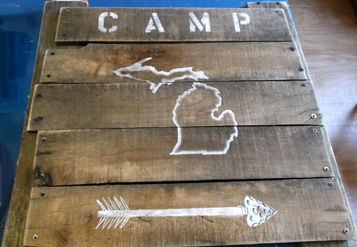cedar escanaba Sign Michigan rustic  Rustic signs