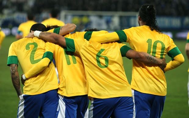 Comemoração Seleção Brasileira (Foto: Resource)