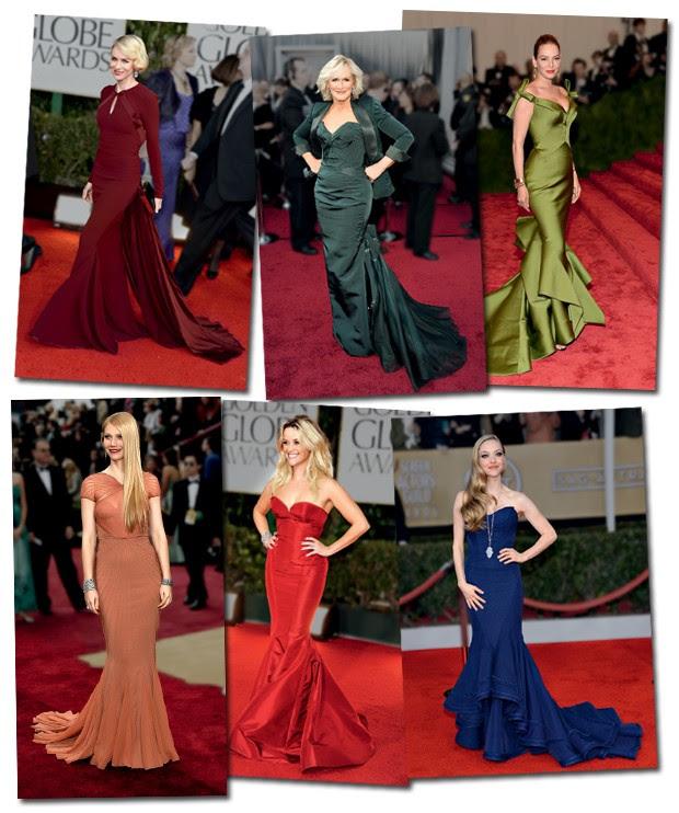 o efeito diva fatal dos vestidos Zac posen nas mais diferentes atrizes e eventos, do baile do met ao oscar (Foto: )