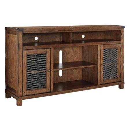 ashley tamonie  tv stand  rustic brown walmartcom