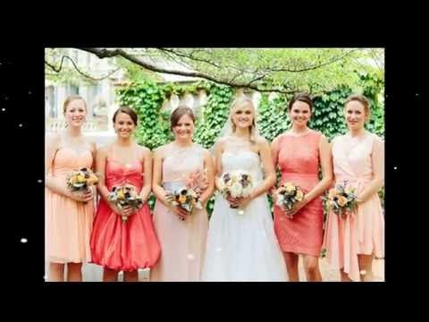 2015 Coral Bridesmaid Dresses Collection