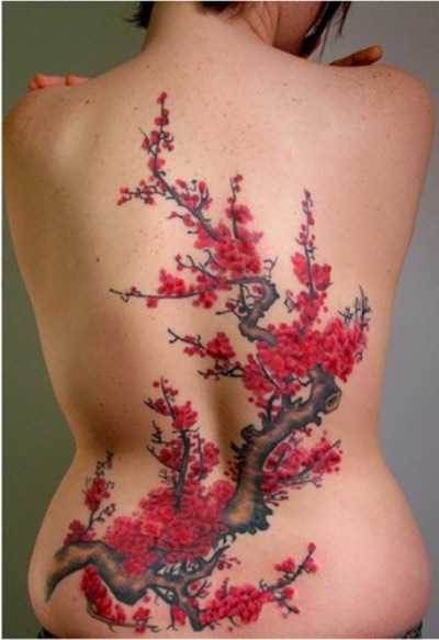 Amazing Japanese Cherry Blossom Tattoo