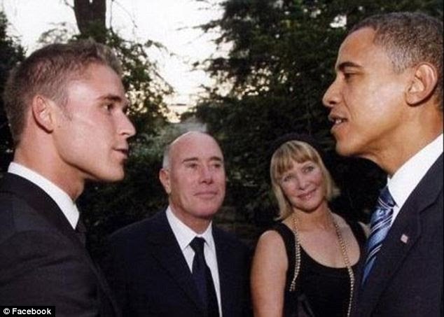 Lingvall also had posted this photo of himself meeting the President as his lover looked on