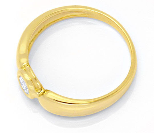 Original-Foto 3, DIAMANTRING GELBGOLD, SOLITÄR-BRILLANT 0,12ct SHOP NEU!