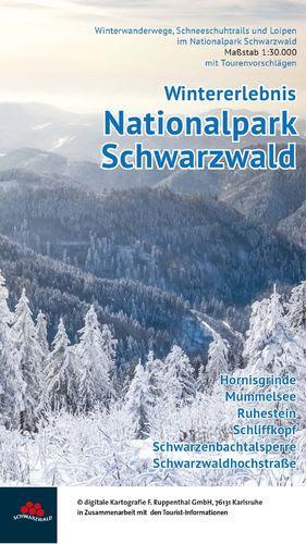 Winterkarte Nationalpark Schwarzwald