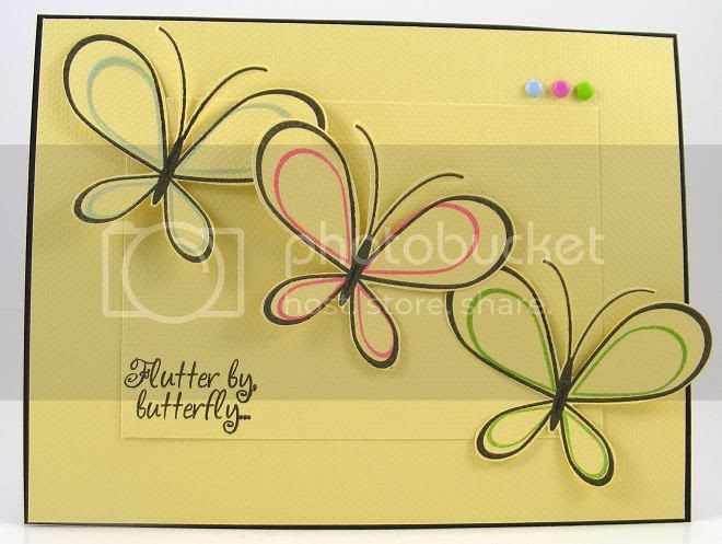 Three Butterflies Card