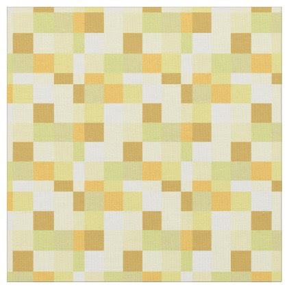Yellow and Gold Pixelated Pattern | Gamer Fabric