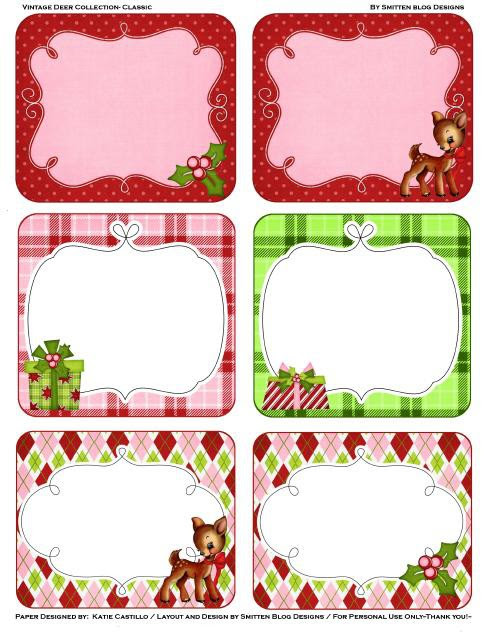 Nifty image for free printable christmas name tags