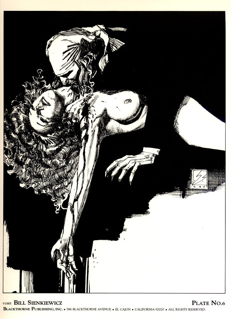 Bill Sienkiewicz - Vampyres 2 (Blackthorne Publishing, Inc 1985) Plate 6