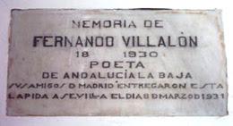 Imagen de Placa: Muere Fernando Villalón