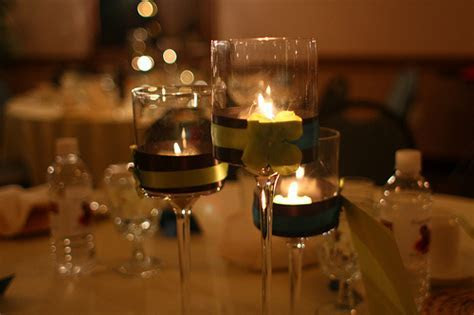 Cheap Floating Candle Centerpiece Ideas With Wine Glasses