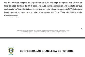 Regulamento Copa Verde 2017 (Foto: Reprodução/CBF)