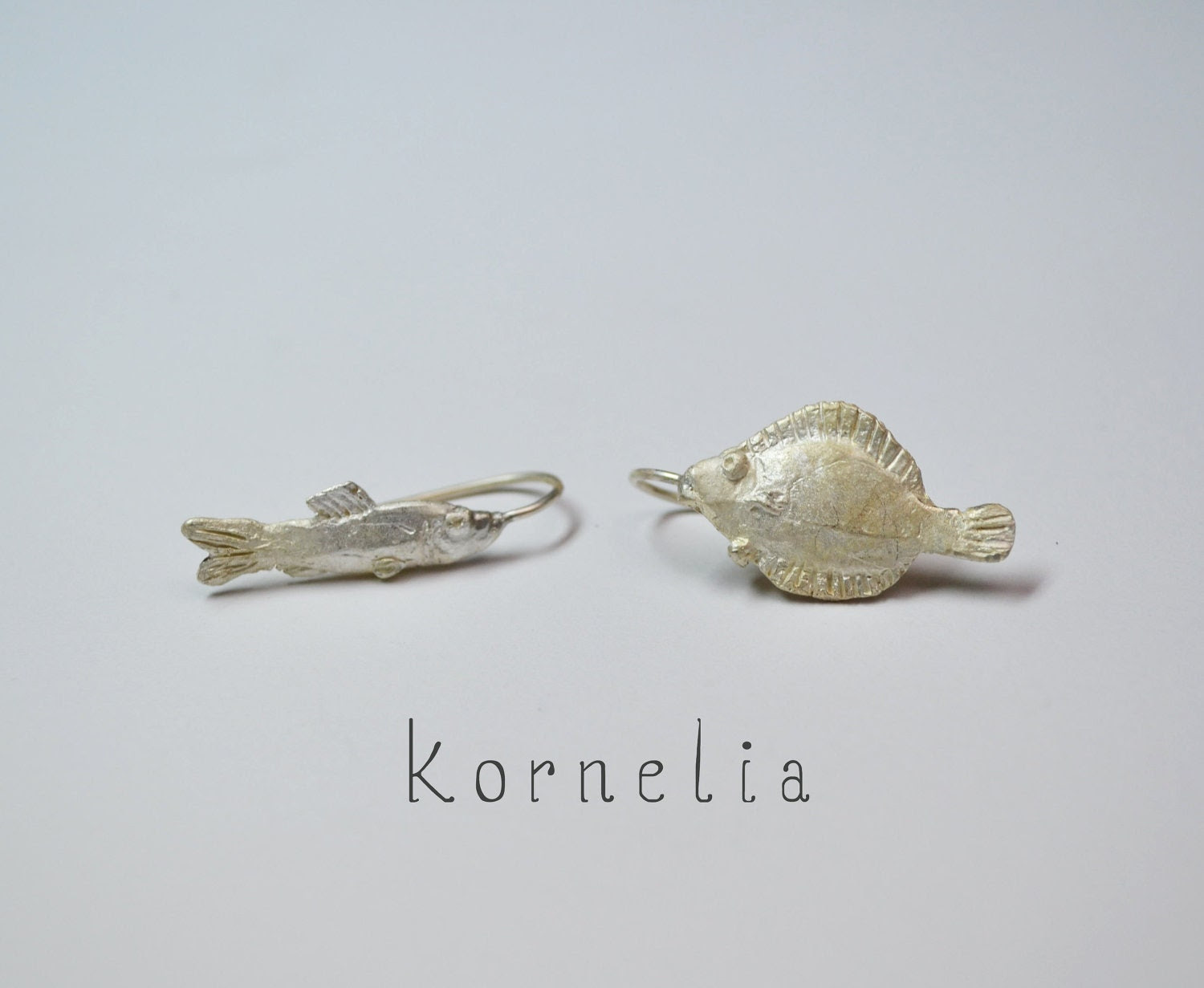 Fish Earrings Silver - korneliaShop