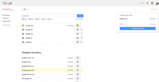 google dominio