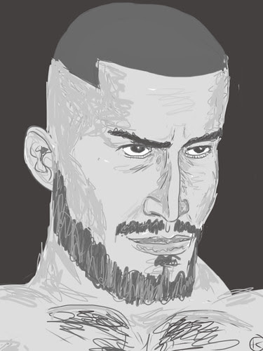 Francois Sagat (iPad Drawing)
