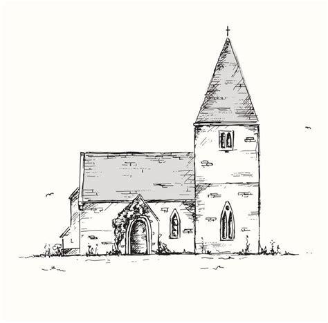 bespoke wedding venue, church or house illustration by