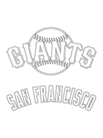 Coloriage Logo Des Giants De San Francisco Coloriages à Imprimer