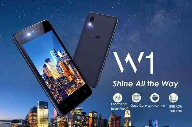 W1: Tecno Cheapest Smartphone with Android 7.0 Nougat Launched