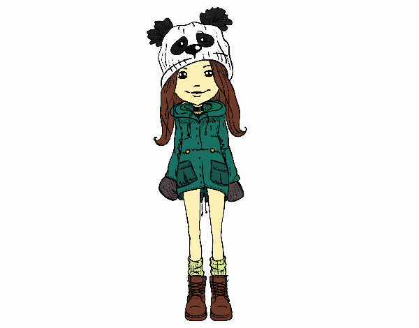 Dibujo De Panda Kawaii Girl Pintado Por Vicchan En Dibujosnet El