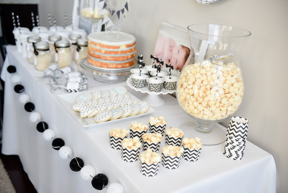 Black White First Birthday Party The Tomkat Studio Blog