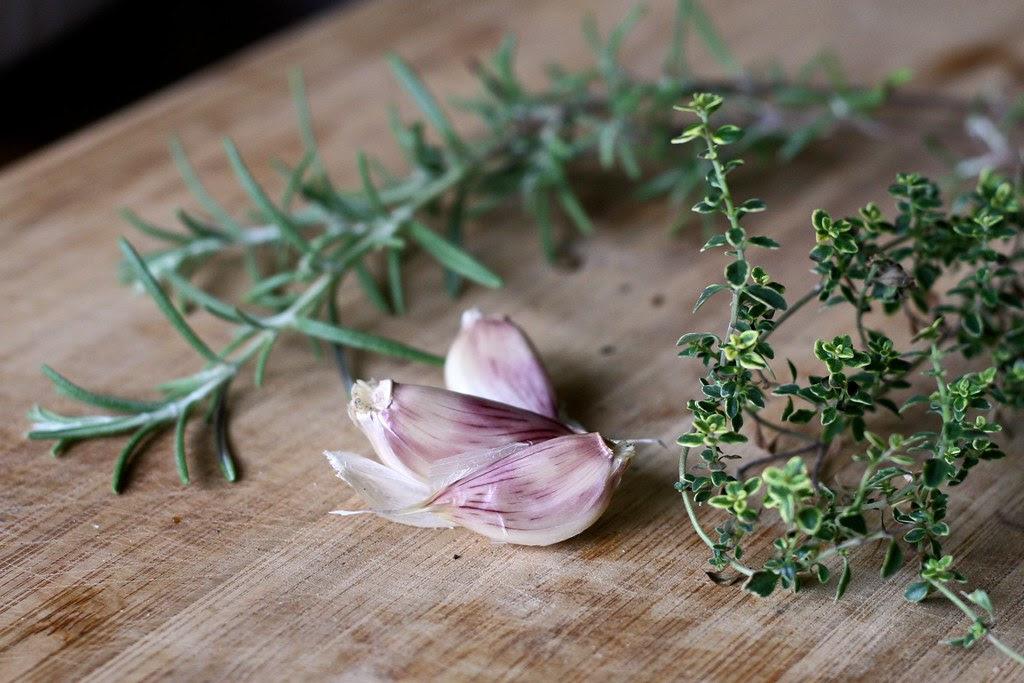 Homegrown Garlic, Rosemary & Lemon Thyme