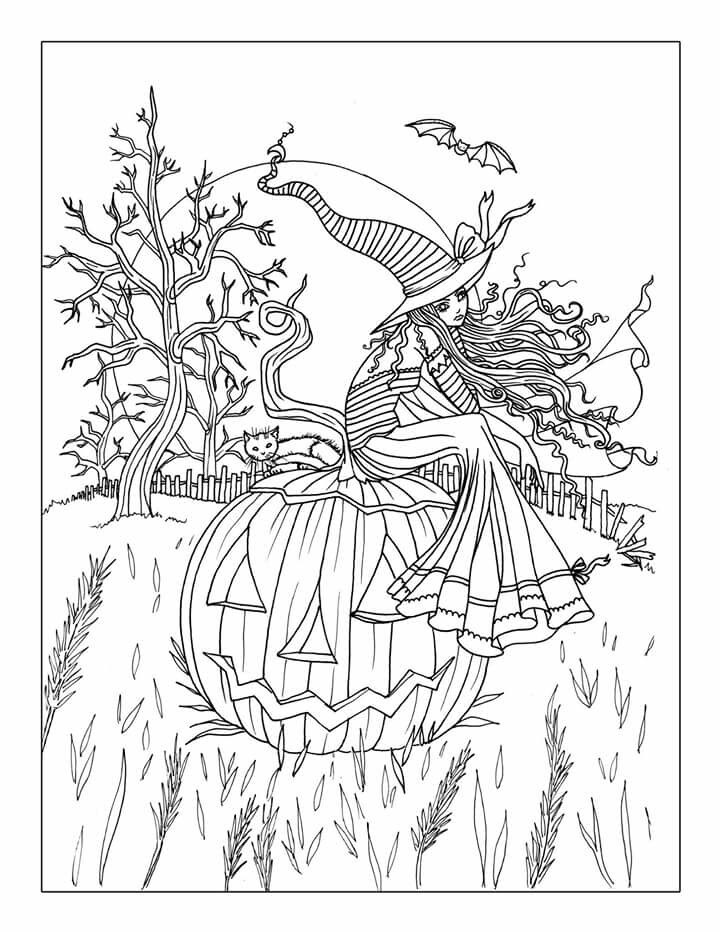 Free Printable Halloween Coloring Pages Adults - Coloring Home