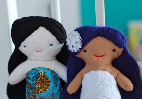 Two little mermaid friends