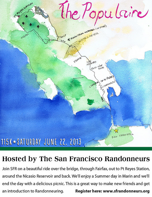 SF Randonneurs present the Populaire June 22nd