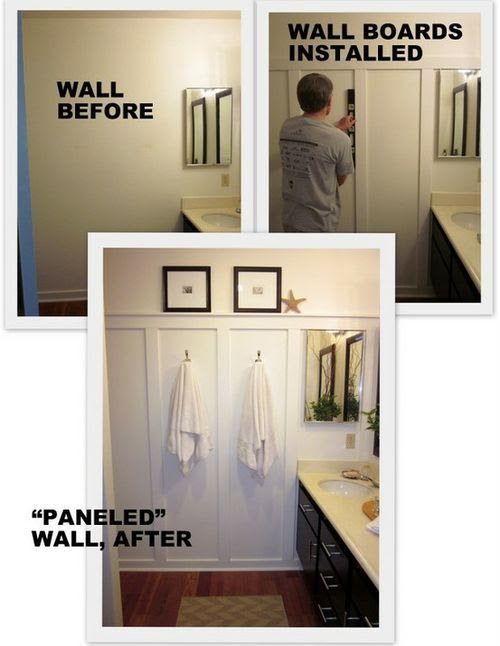 This is awesome. The panels changed the whole look of the bathroom. I love it.