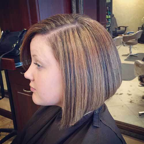 Blonde Bob With Black Highlights Popular Haircuts