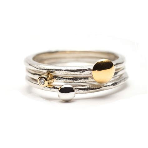 The best selling 'Beautiful Heart' stack ring, handmade in