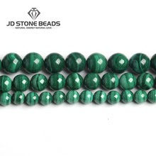 Malachite Beads Semi-precious stones  For Jewelry Making