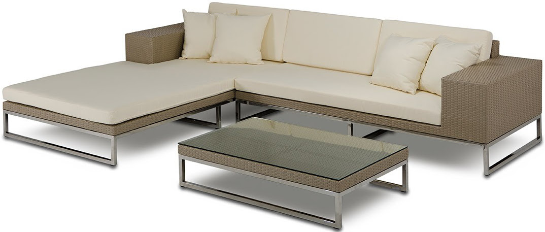 The Tahiti Low Profile Outdoor Modern Sectional   Patio ...