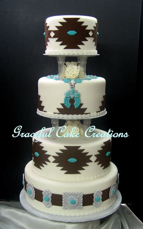 Elegant Navajo Design Wedding Cake in 2019   Wedding Cakes