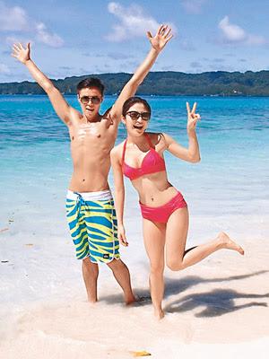 李潤庭在幕前有不少演出機會,曾與林芊妤拍旅遊節目。