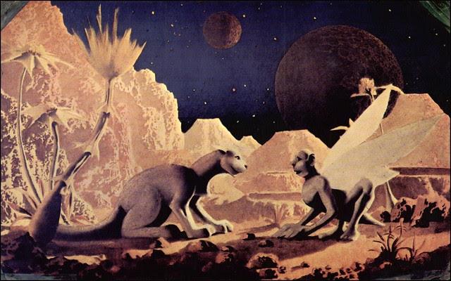 Hannes Bok - Martian Landscape